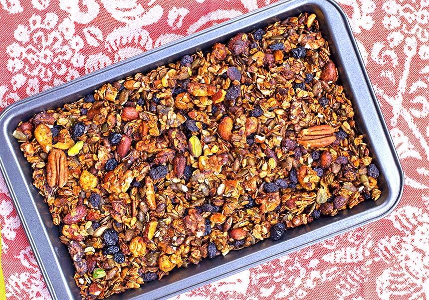 גרנולה ביתית בלי שמן-מטבח לייט