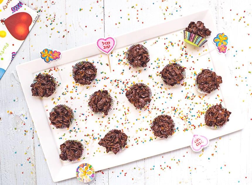 כדורי שוקולד פרווה טבעוניים, בריאים ומהירים