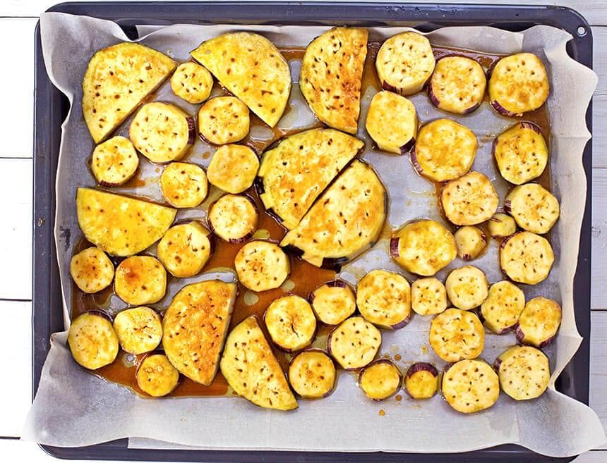 חצילים בתנור בטעם חצילים מטוגנים
