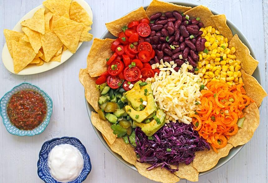 סלט טאקו מקסיקני-מטבח לייט