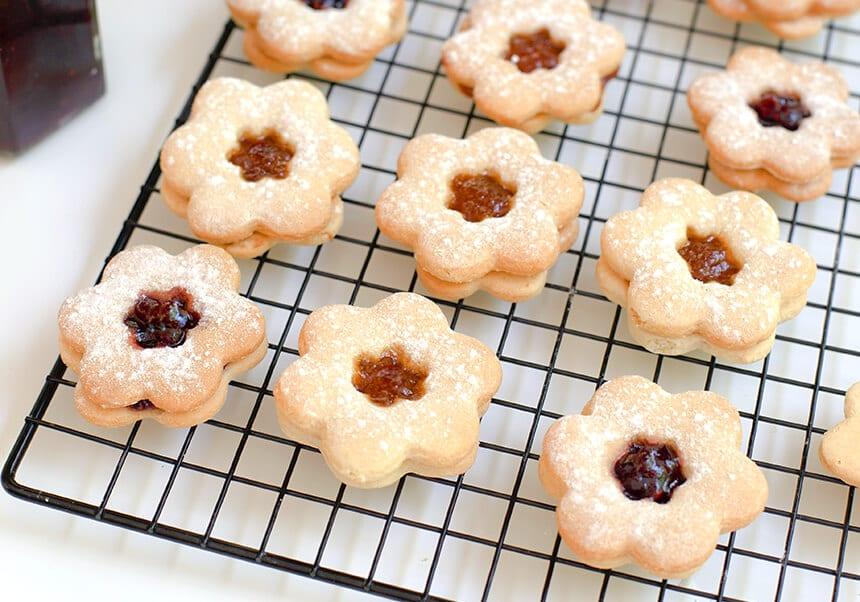 עוגיות ריבה מופחתות קלוריות - מטבח לייט