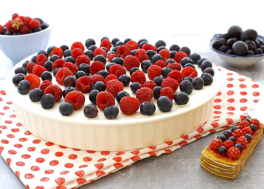 עוגת פירות יער - מטבח לייט