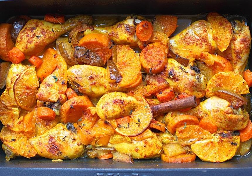 עוף כתום בתנור - מטבח לייט