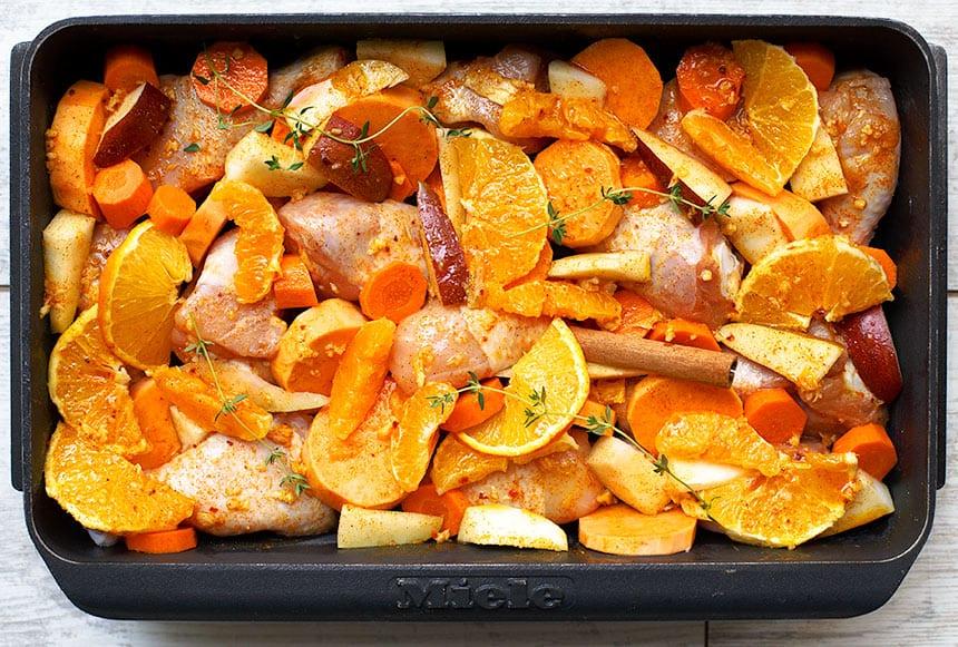 עוף כתום בתנור-מטבח לייט