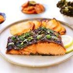 דג סלמון במיסו בתנור-מטבח לייט