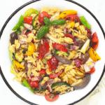 סלט פתיתים עם ירקות קלויים-מטבח לייט